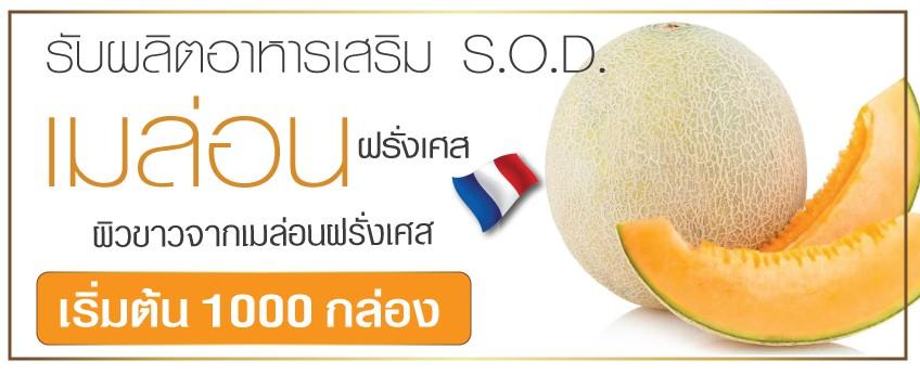 ผลิตภัณฑ์เสริมอาหาร SOD เมล่อน จากประเทศฝรั่งเศส