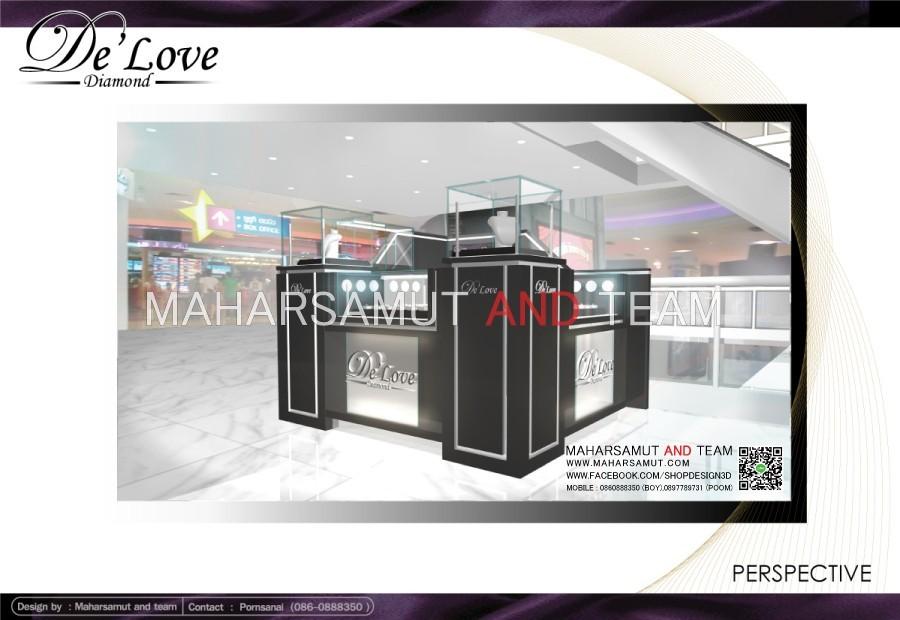ตกแต่งร้านจิวเวลรี่ ออกแบบร้านจิวเวลรี่ De'Love diamond2.1