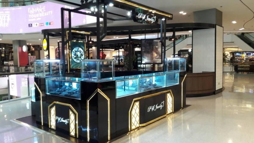 ออกแบบร้านจิวเวลรี่ ตกแต่งร้านจิวเวลรี่ P.S.Jewelry