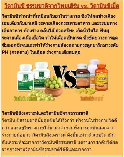 Vitamin C จากสมุนไพร ดูดซึมได้ดีกว่าแบบเคมี ผลดีก็เลยดีกว่า?