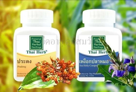 สมุนไพร รักษาโรค Thai Herb ประดงแคปซูล น้ำเหลืองเสีย เสริมภูมิคุ้มกัน ราคาถูก