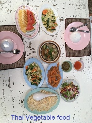 Thai Vegetable food at TREE Islands in Pattaya