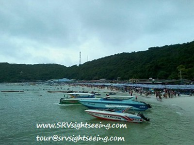Spped boat go to TREE Islands in Pattaya