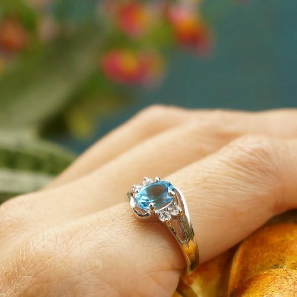 แหวนพลอยบลูโทแพซแท้ SR525
