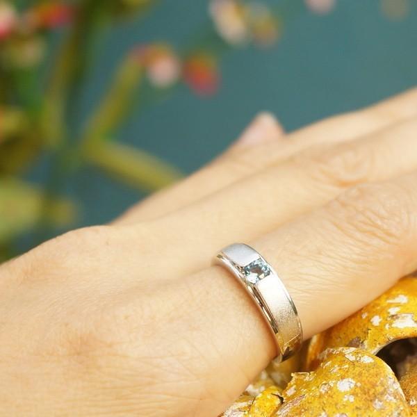 แหวนพลอยบลูโทแพซแท้ SR559