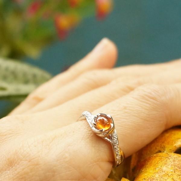 แหวนพลอยสเปสซาร์ไทตแท้-โกเมนสีส้ม SR609