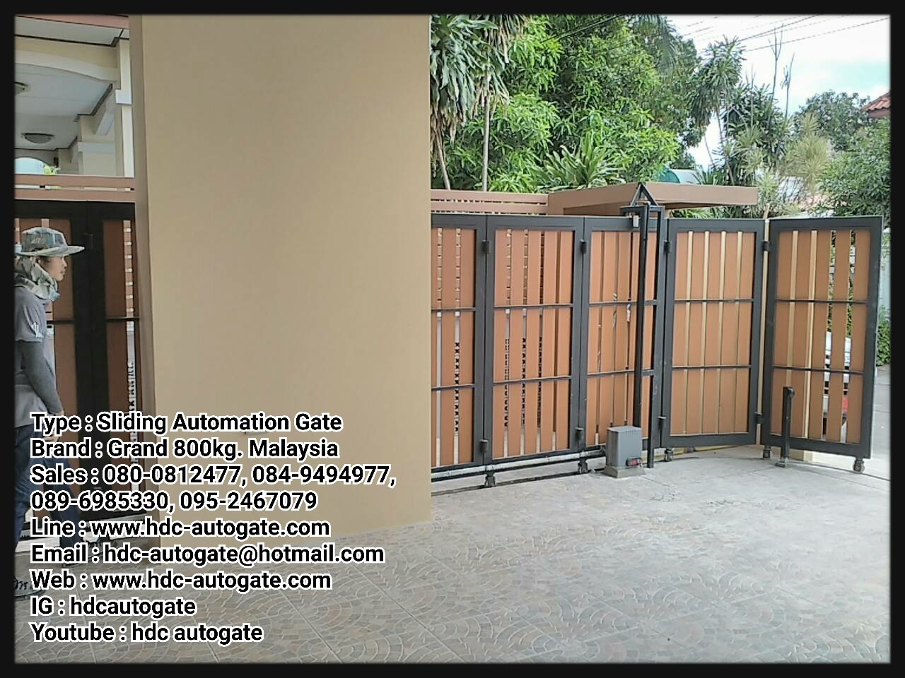 ผลงานการออกแบบ ผลิตประตูรั้วบานโค้งสำหรับบ้านทาวน์โฮม  และมอเตอร์ประตูนรีโมทบานโค้ง