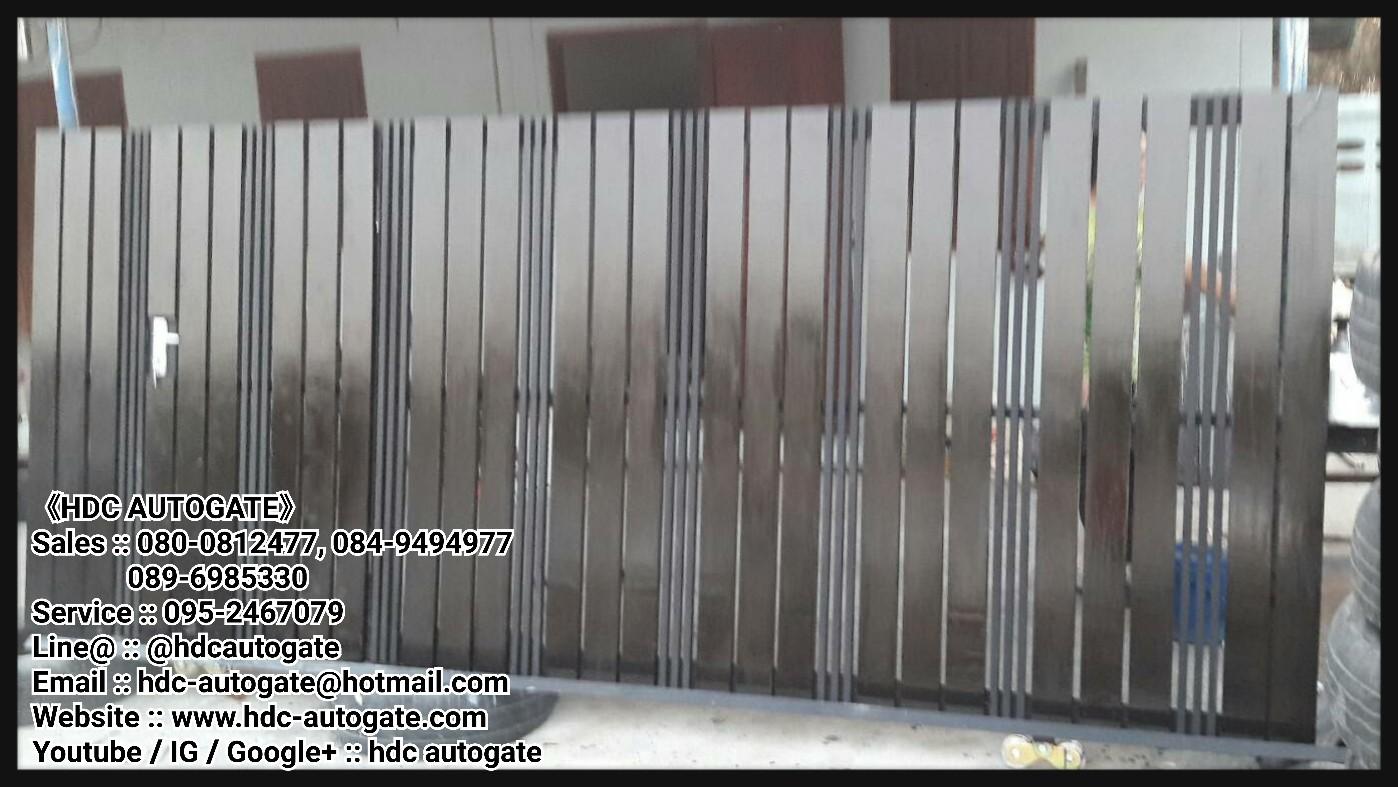 ผลงานผลิตและออกแบบประตูรั้วเหล็กและติตตั้งมอเตอร์ประตูรีโมท SRL 400 kg.  ณ หมู่บ้านพฤกษา คลอง3
