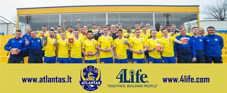 4Life สนับสนุนทีมฟุตบอล FK Atlantas