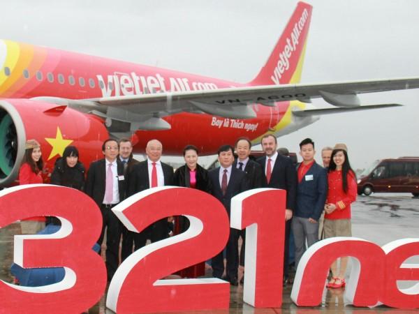 'เวียตเจ็ทแอร์' รับมอบเครื่องบินรุ่น A321neo