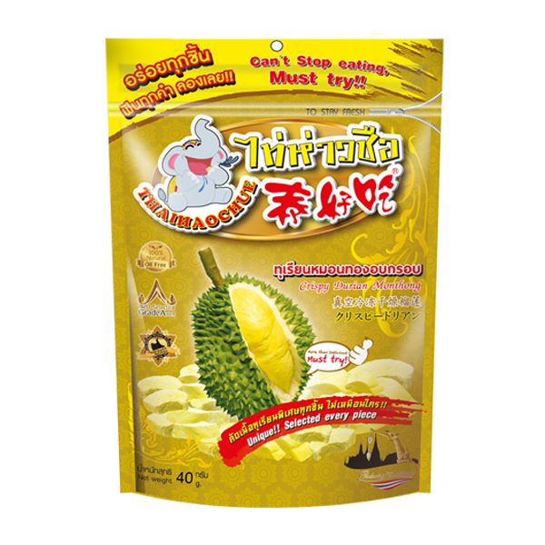 Durian monthong freeze dried Thai Hao Chue Brand 40g