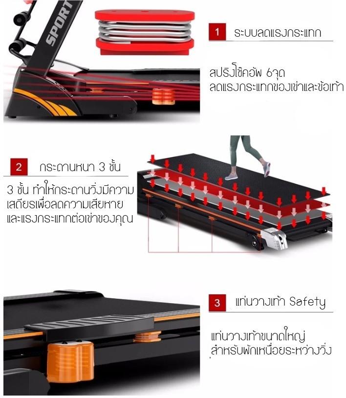 ลู่วิ่งไฟฟ้า Thai Sun Sport รุ่น TA03