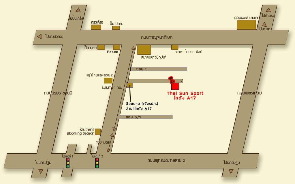 แผนที่ Thai Sun Sport