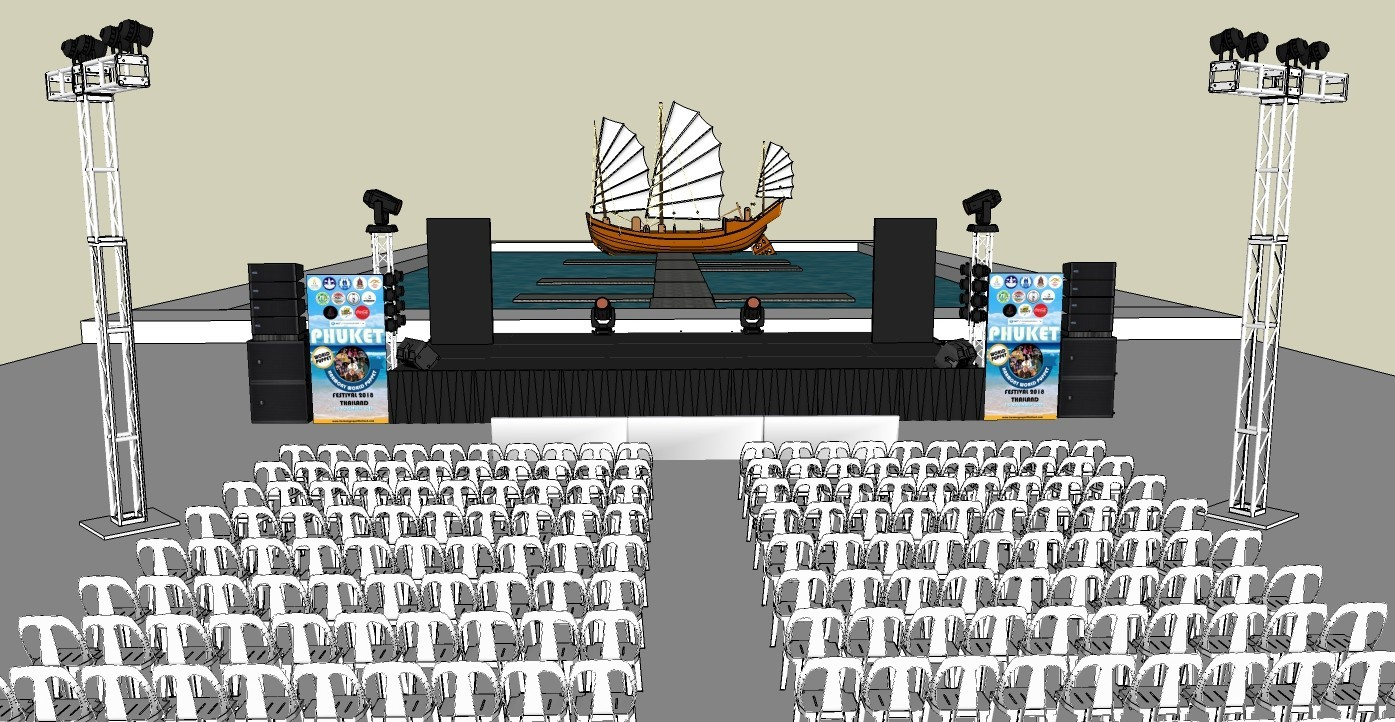Stage at Jungceylon Shopping Mall in Patong