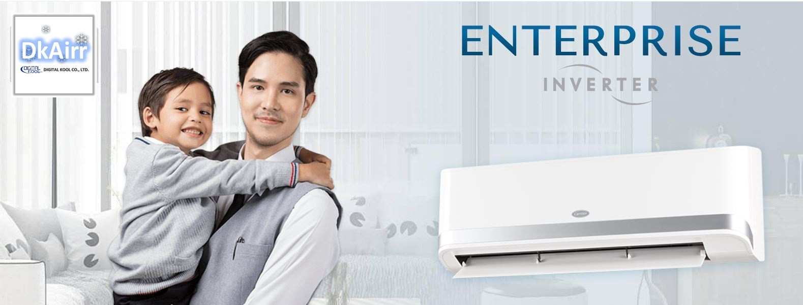 Carrier_42TOVGS010-024 แอร์ผนัง (Enterprise) Inverter เบอร์5 R32 ปี2019