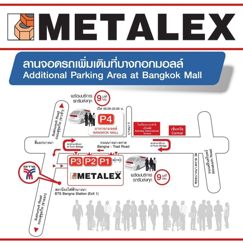 METALEX PARKING MAP