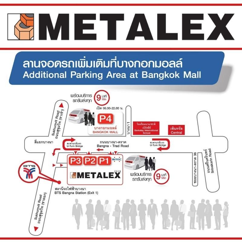 METALEX PARKING MAP