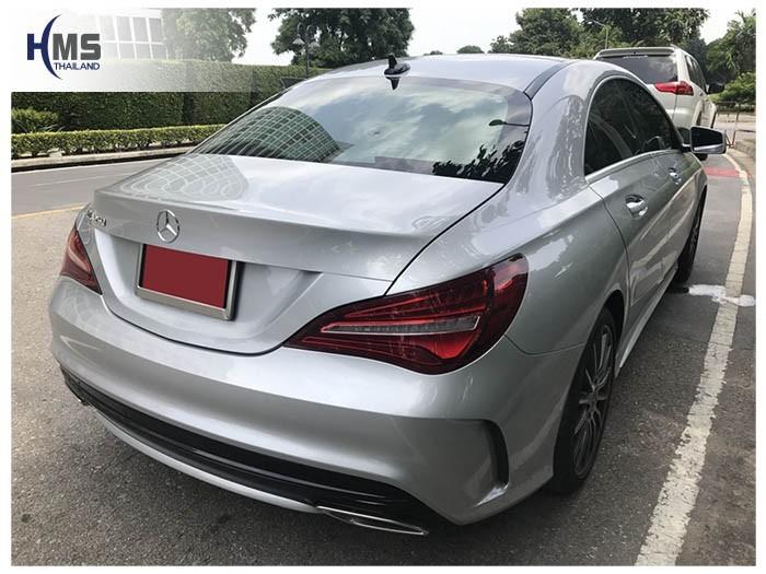 20180823 Mercedes Benz CLA250 C117_back,ภาพท้ายรถ Mercedes Benz CLA250 C117 ติดตั้งกล้องติดรถยนต์โดย HMS Thailand