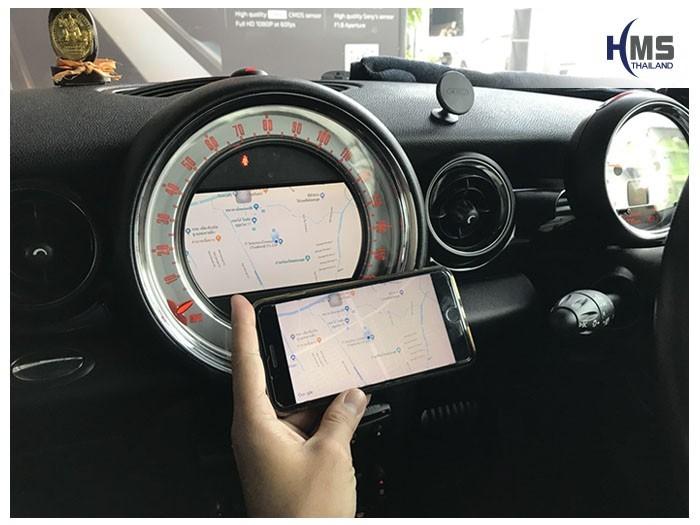 20180821 Mini CooperS_Wifi box_Navigation,carplay , android auto, screen mirroring, ภาพมือถือขึ้นจอรถยนต์
