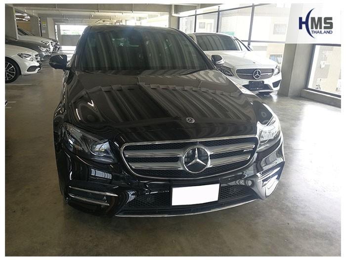 20180905 Mercedes Benz E350e W213_front,ภาพหน้ารถ Mercedes Benz E350e W213 ติดตั้งกล้องติดรถยนต์โดย HMS Thailand