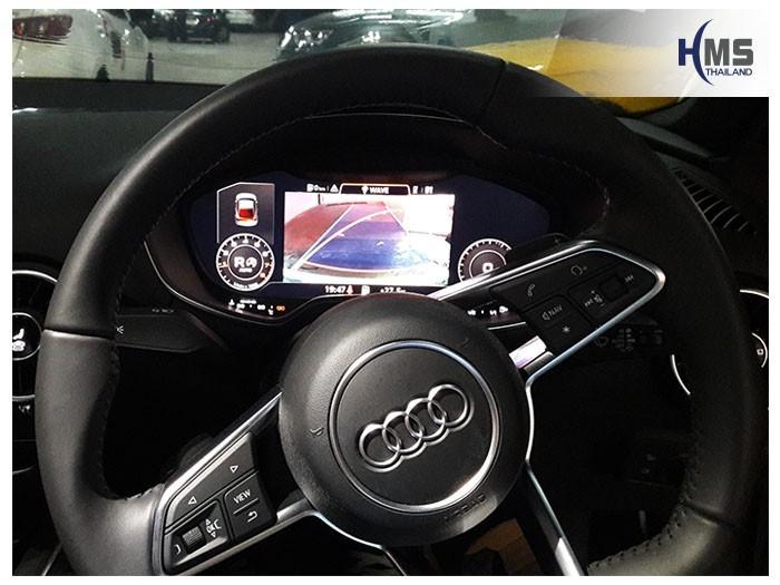 20180815 Audi TT_Rear camera_view,,Rear camera,จอถอยหลัง,กล้องมองหลัง,กล้องถอยหลัง,หมุนตามพวงมาลัย,PAS,Park assistant system