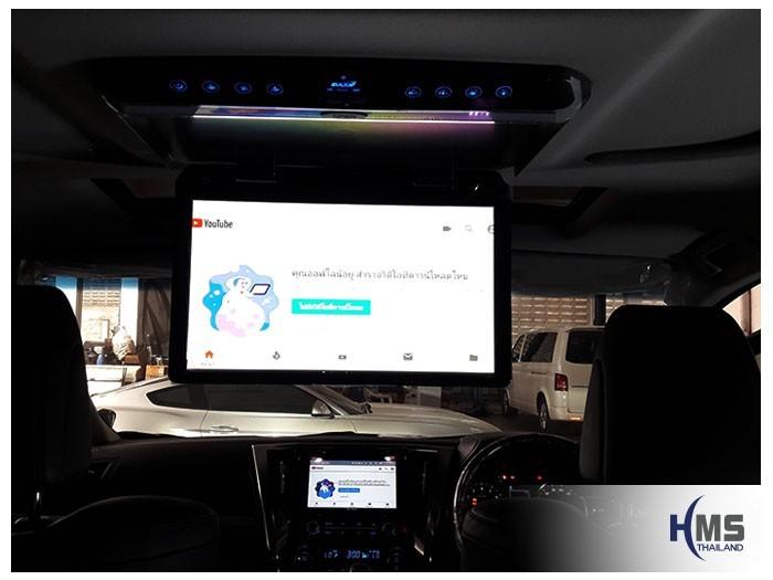 20180903 Toyota Vellfire_roof monitor_zulex_App_Youtube,ดูวีดีโอจาก Youtube จาก KD9300 ด้วยจอเพดานที่ติดตั้งไว้ในรถ Toyota Vellfire
