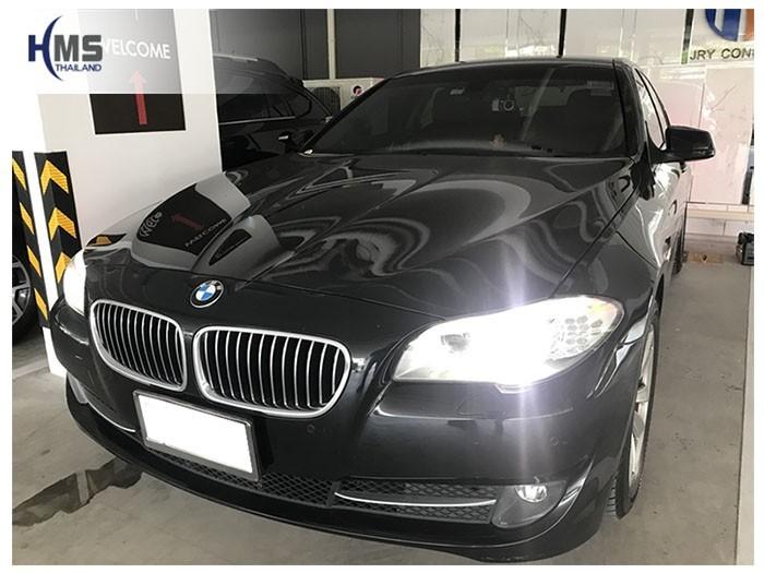 20180806 BMW 520i_F10_front,ติดกล้องถอยและ Wifi box บน BMW 520i F10