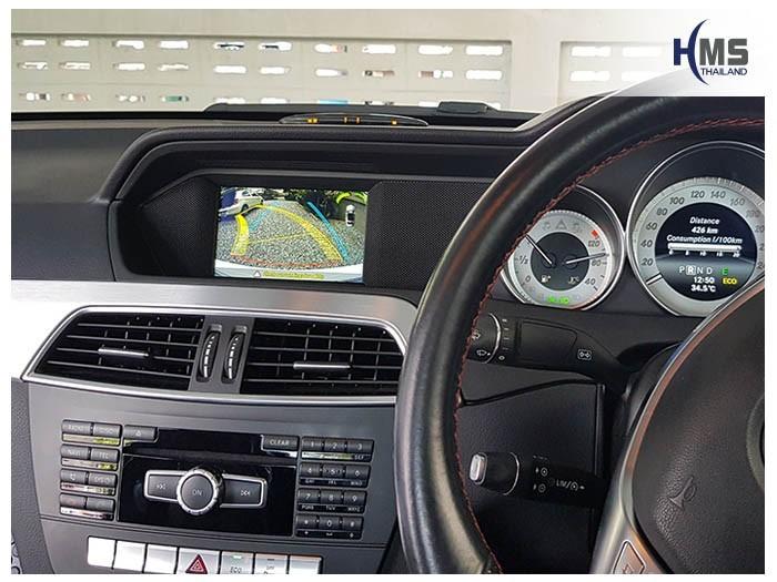 20180620 Mercedes Benz C180_W204_Rear camera_View,Rear camera,จอถอยหลัง,กล้องมองหลัง,กล้องถอยหลัง,หมุนตามพวงมาลัย,PAS,Park assistant system