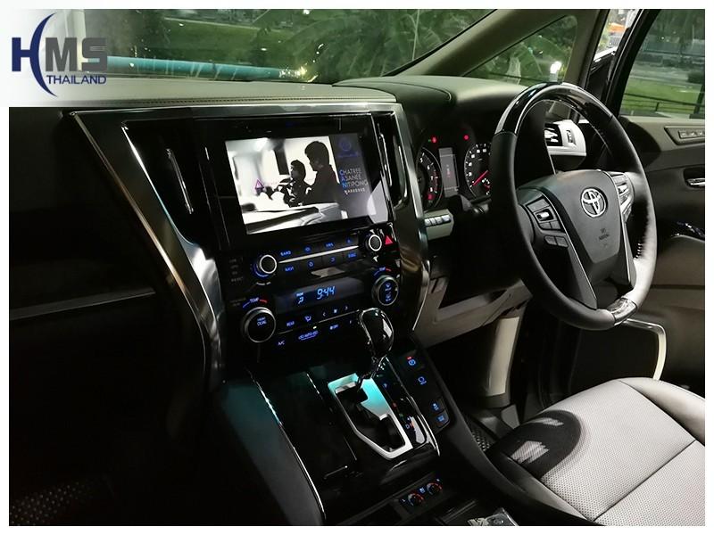 20181013 Toyota Alphard,วิทยุ OEM Fit ระบบ Android,หน้าเต็ม