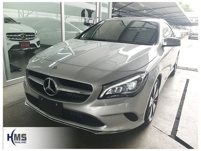 20180908 Mercedes Benz  CLA200_C117_front,รถ Mercedes Benz CLA200 C117 ติดตั้งกล้องติดรถยนต์โดย HMS Thailand