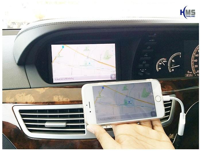 20170911 Mercedes Benz S500 W221_TV Digital_ASUKA_HR630_iPhone AV Adaptor_map