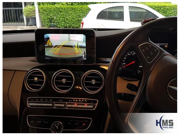 20180614 Mercedes Benz C180_W205_Rear camera_View,Rear camera,จอถอยหลัง,กล้องมองหลัง,กล้องถอยหลัง,หมุนตามพวงมาลัย,PAS,Park assistant system,