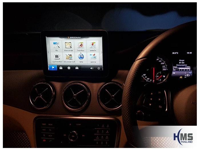 20180904 Mercedes Benz CLA200 C117_Navigation box_T5000_SpeedNavi,ภาพเมนูค้นหาของโปรแกรมนำทาง SpeedNavi บนหน้าจอ Mercedes Benz CLA200 C117