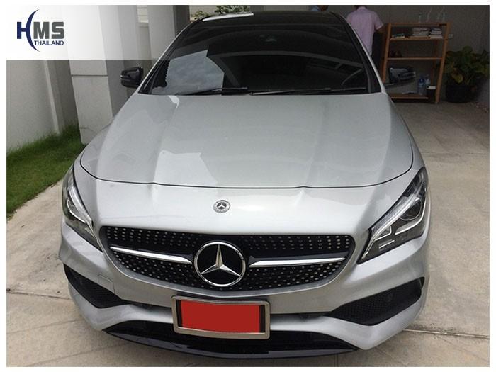 20180908 Mercedes Benz CLA250_C117_front,รถ Mercedes Benz CLA250 C117 ติดตั้งกล้องติดรถยนต์โดย HMS Thailand