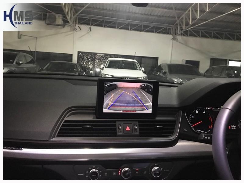 20180726 Audi Q5 Rear camera_View,Rear camera,จอถอยหลัง,กล้องมองหลัง,กล้องถอยหลัง,หมุนตามพวงมาลัย,PAS,Park assistant system