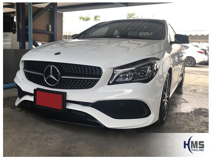 20180831 Mercedes Benz CLA250_C117_front,รถ Mercedes Benz CLA250 C117 ติดตั้งกล้องติดรถยนต์โดยทีมงาน HMS Thailand