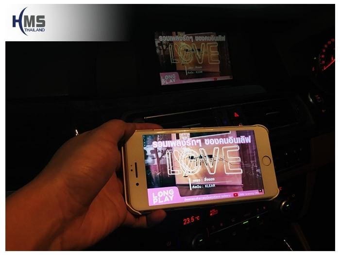 20180806 BMW 520i_F10_Wifi box,carplay , android auto, screen mirroring, ภาพมือถือขึ้นจอรถยนต์
