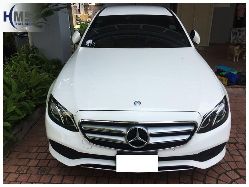 20181009 Mercedes Benz E220 W213_front,ติดกล้องติดรถยนต์ บน Mercedes Benz E220d W213 โดย HMS Thailand