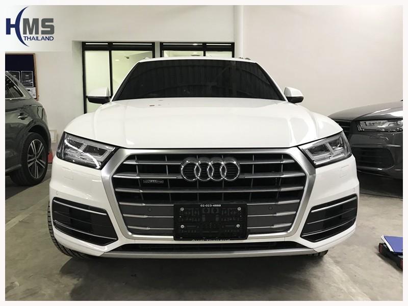 20180724 Audi Q5_front,ติดกล้องถอยบนรถ Audi Q5 35 TDI Quattro