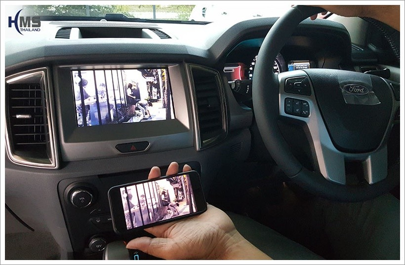 ติด WiFi Box รถFord Everest (WiFi Mirror Link + Rear Camera)