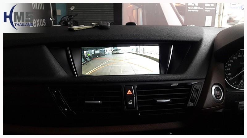 20180718 BMW X1,BMW F48,rear camera_View,Rear camera,จอถอยหลัง,กล้องมองหลัง,กล้องถอยหลัง,หมุนตามพวงมาลัย,PAS,Park assistant system