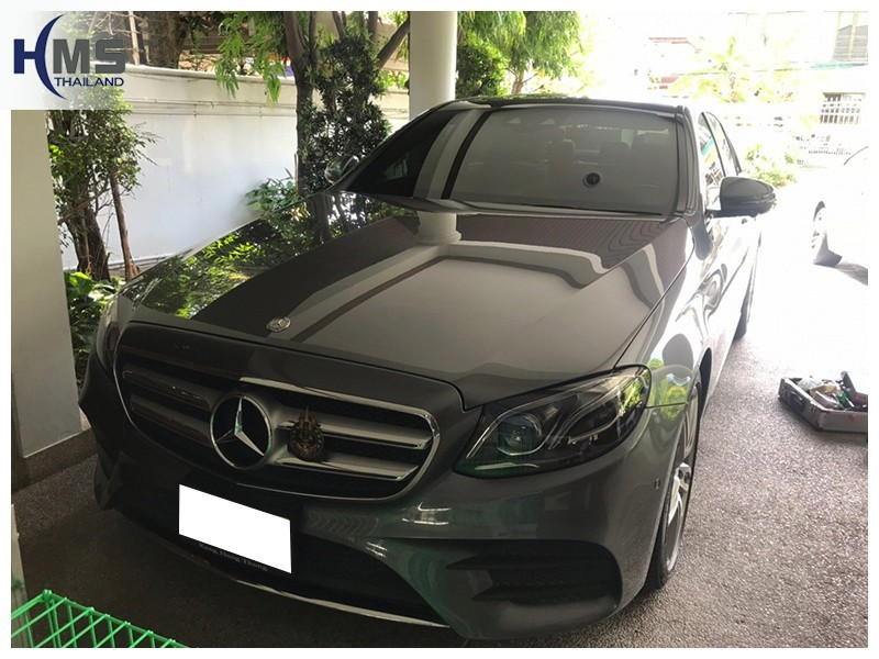 20180816 Mercedes Benz E220d  W213_front,ติดกล้องติดรถยนต์บน Mercedes Benz E220d W213 โดย HMS Thailand