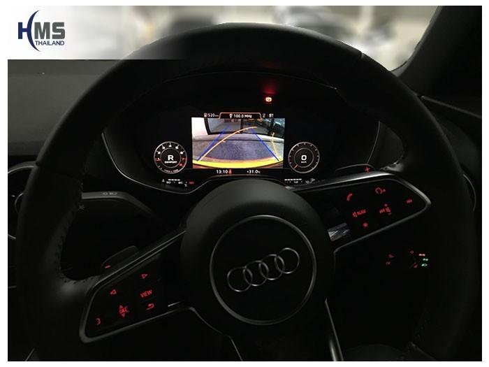 20180911 AUDI TT Rear camera View,Rear camera,จอถอยหลัง,กล้องมองหลัง,กล้องถอยหลัง,หมุนตามพวงมาลัย,PAS,Park assistant system
