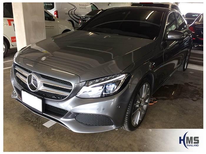 20180808 Mercedes Benz C350e_W205_front,ติดอุปกรณ์ บน Mercedes Benz C350e W205 โดย HMS Thailand