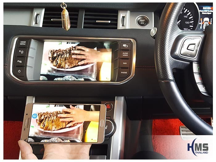 20180611 Land rover RangRover Evoque_Wifi_box_Movie,carplay , android auto, screen mirroring, ภาพมือถือขึ้นจอรถยนต์