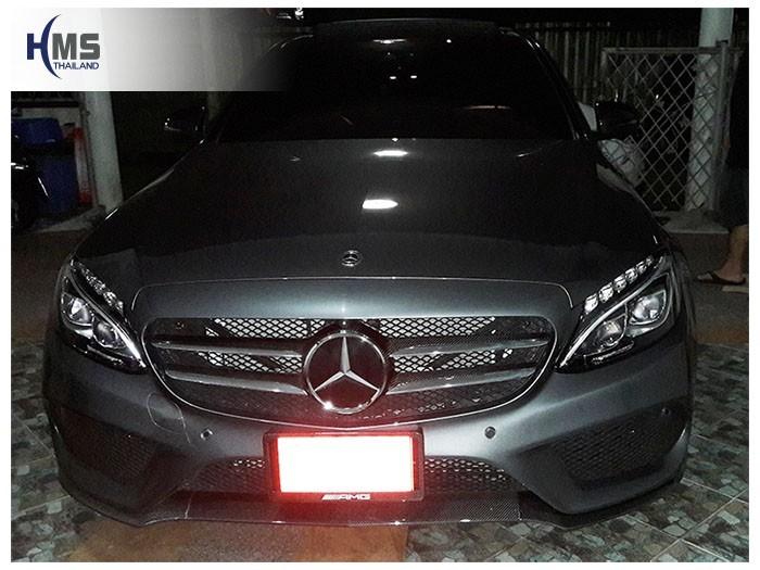 20180810 Mercedes Benz C350e W205_front,ติดทีวีดิจิตอลบนรถ Mercedes Benz C350e W205 โดย HMS Thailand