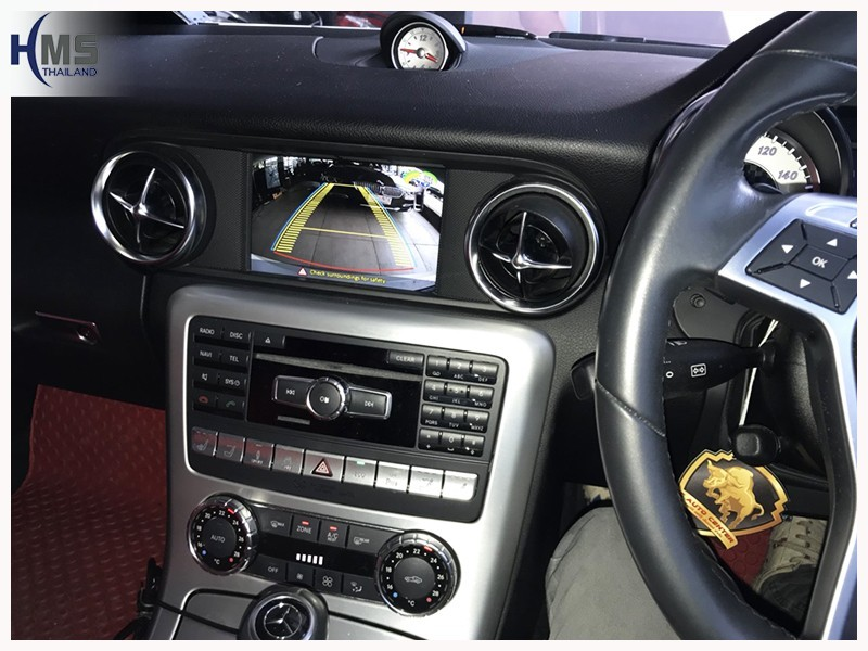 20180713 Mercedes Benz SLK250 R172_Rear camera_view,Rear camera,จอถอยหลัง,กล้องมองหลัง,กล้องถอยหลัง,หมุนตามพวงมาลัย,PAS,Park assistant system