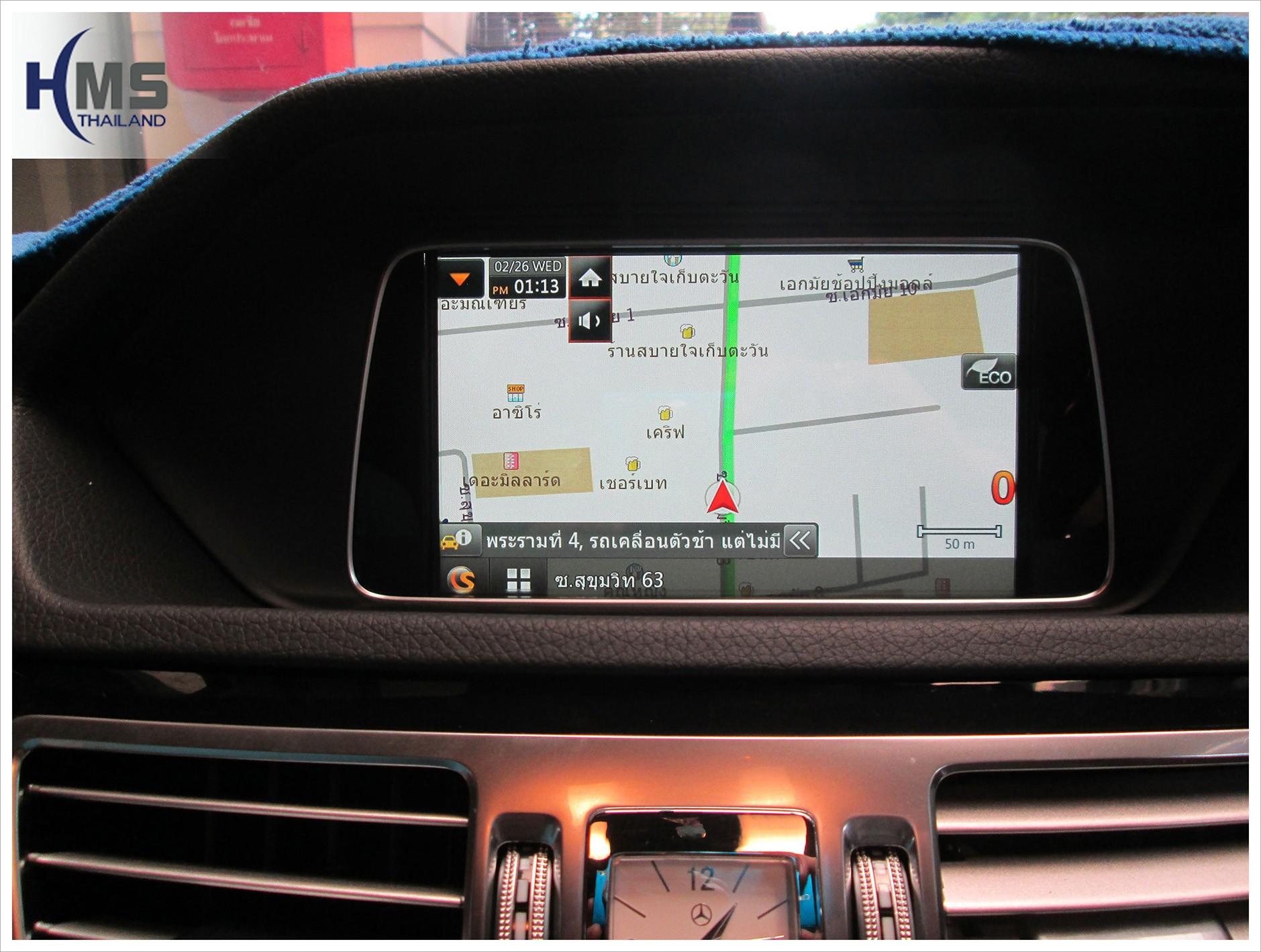 แผนที่นำทาง Mercedes Benz E220 W212,ระบบนำทาง เบนซ์ E220, navigation box