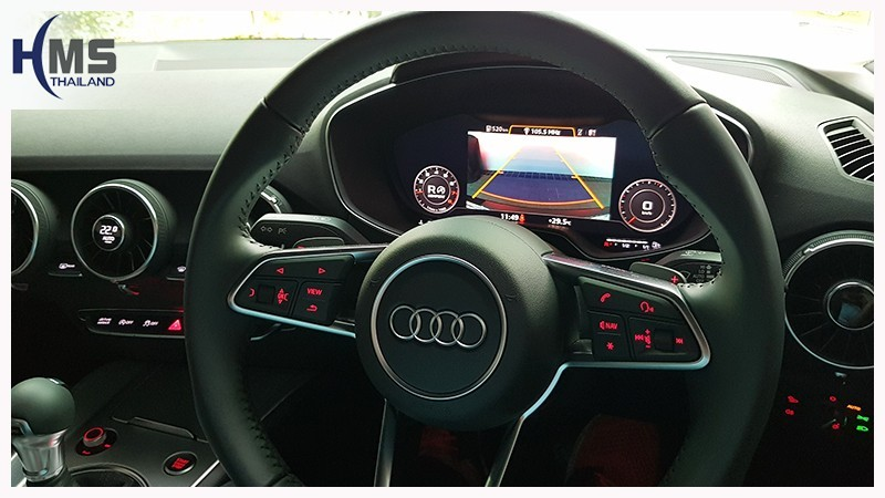 20180717 Audi TT Rear camera_view,,Rear camera,จอถอยหลัง,กล้องมองหลัง,กล้องถอยหลัง,หมุนตามพวงมาลัย,PAS,Park assistant system