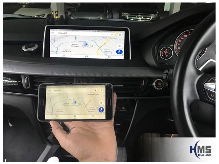 20180806 BMW X5 F15_wifi box_Navigation,gps, navigation, Speednavi, Map, Navigator, carplay , android auto, screen mirroring, ภาพมือถือขึ้นจอรถยนต์, Screen mirror, mirror link, car wifi display, car wifi